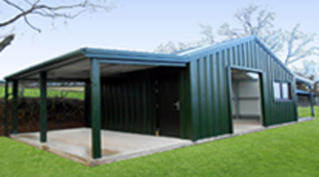 domestic shed single carport