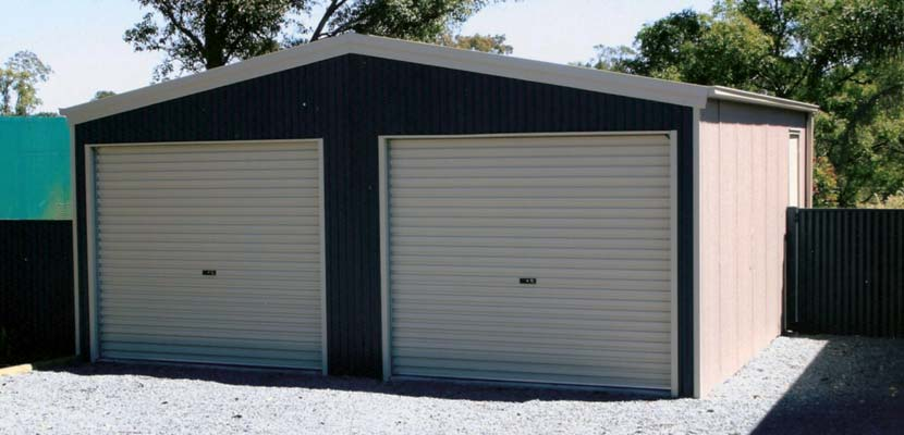 double shed garage